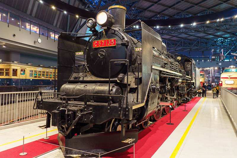 Japan-Tokyo-Kawagoe-Museum - There are also older trains to look at, but the focus is on the post steam era.