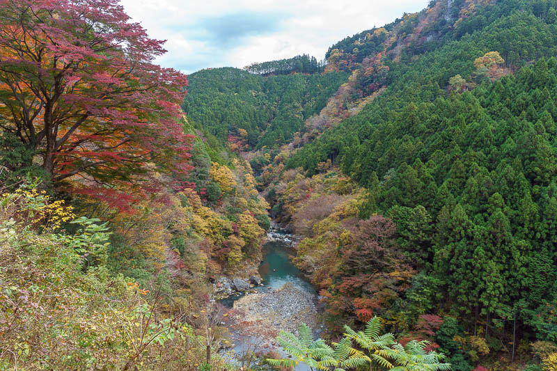 Japan-Okutama-Lake-Hiking - Just one of many opportunities to peer into the canyon with the river running through it.