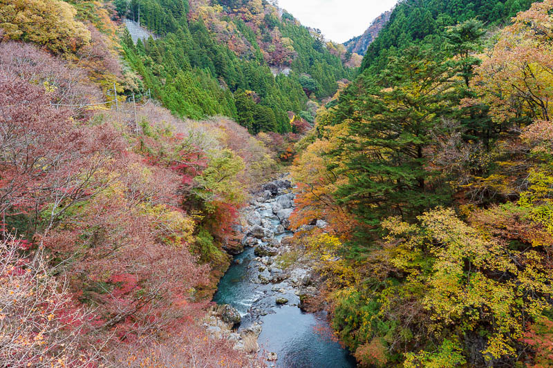 Japan-Okutama-Lake-Hiking - View from bridge.