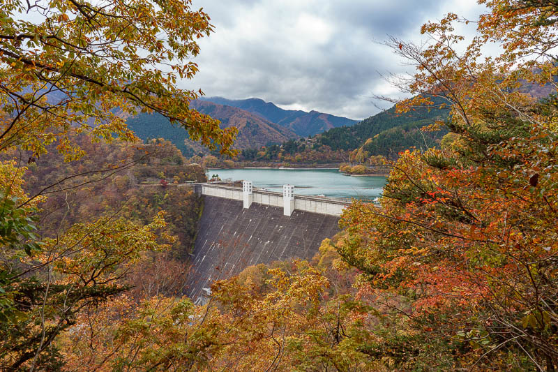 Japan-Okutama-Lake-Hiking - Here is my first view of the dam, its so close but the trail takes you around up a valley past it and then back again. I think theres a shortcut along