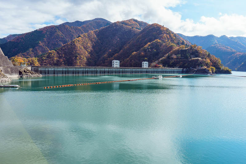 Japan-Okutama-Lake-Hiking - Here is the dam. You will see later it is quite high up. It is both a hydroelectric plant and also the main source of water for Tokyo.