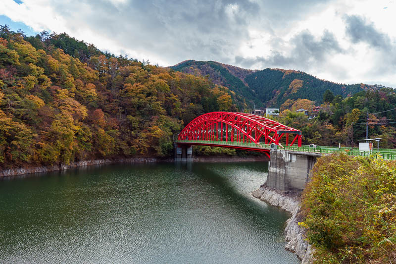 Japan-Okutama-Lake-Hiking - A red bridge! Everyone loves a red bridge.