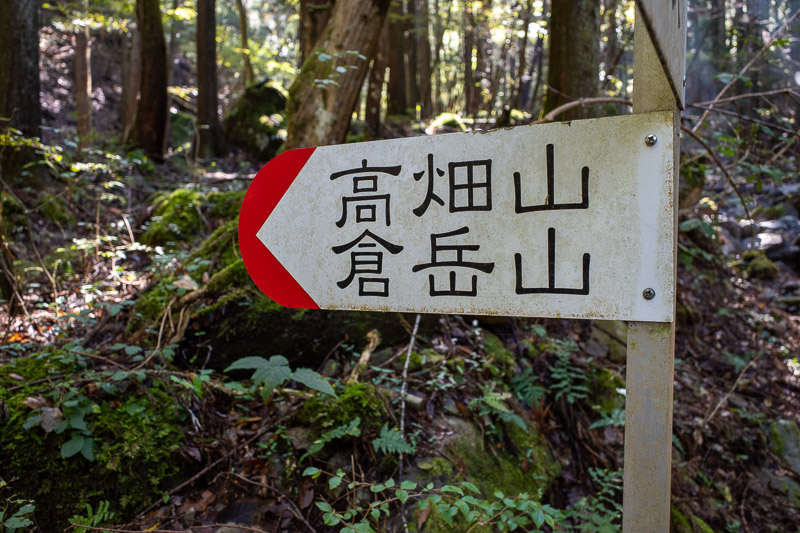 Japan-Tokyo-Hiking-Mount Kuratake - Signs are a welcome comfort, but note they do not show distance or time like on some other mountains.