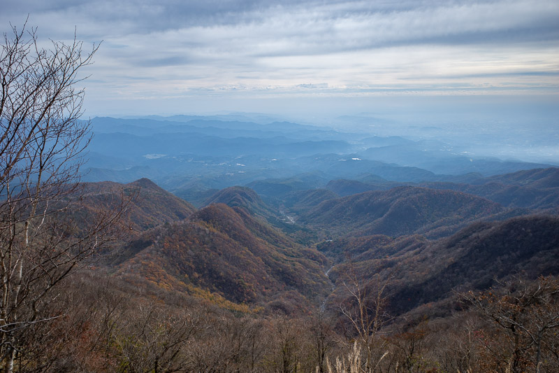 Japan-Hiking-Mount Akagi - Nice view down the valley, would be nicer if the sky was clear.