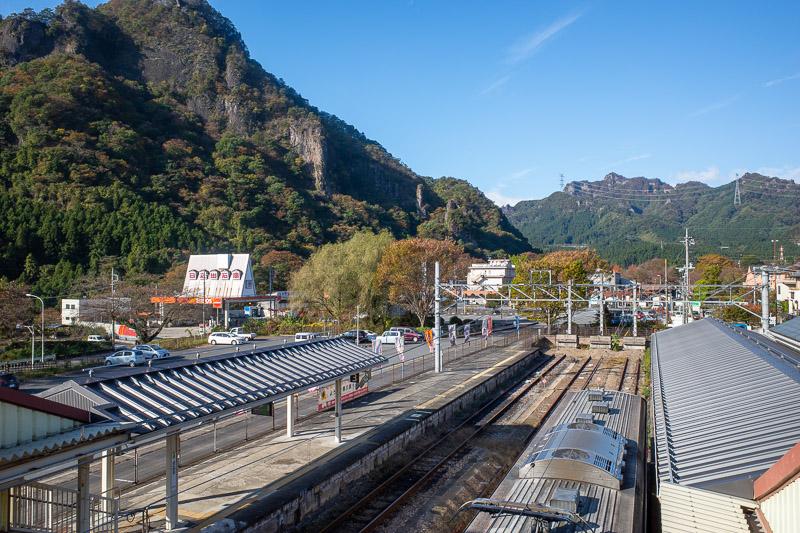 Japan-Takasaki-Hiking-Yokokawa - Yokokawa station. It is very spectacular. I remembered from last time it was spectacular. Great weather today too.