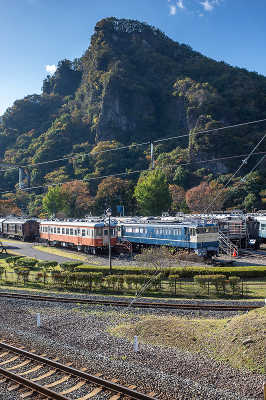 Japan-Takasaki-Hiking-Yokokawa - A bit more of the railway museum with a fantastic backdrop.