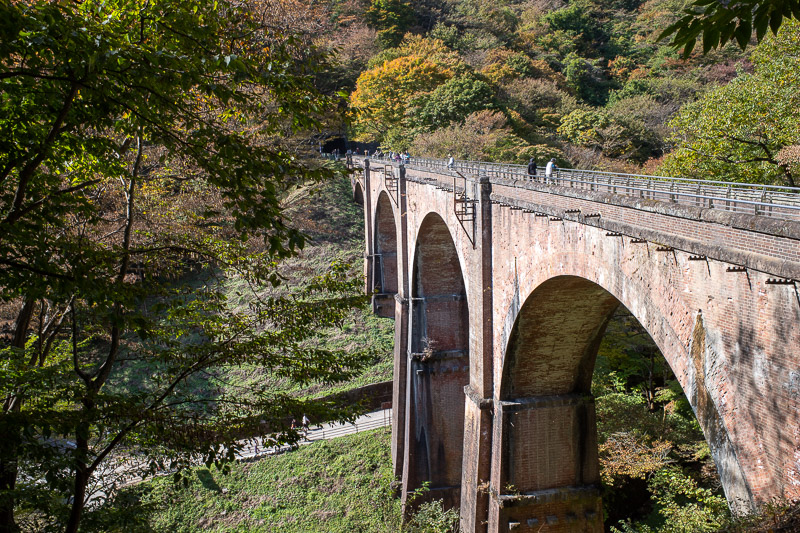 Japan-Takasaki-Hiking-Yokokawa - Here is the famous bridge again, new angle.