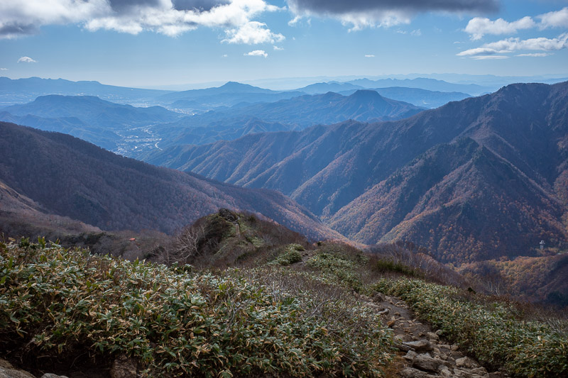 Japan-Hiking-Mount Tanigawa-Doai Station - Another look down the valley.
