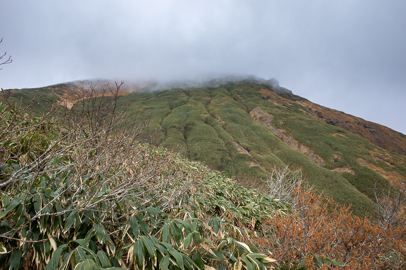 Japan-Hiking-Mount Tanigawa-Doai Station - Now to keep going into the cloud and towards the summit.