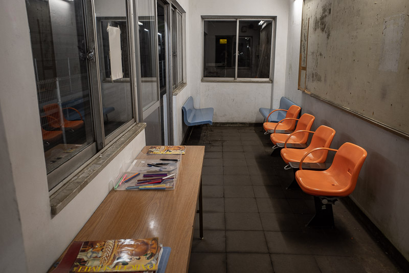 Japan-Hiking-Mount Tanigawa-Doai Station - The waiting room is filled with hungry / angry ghosts.