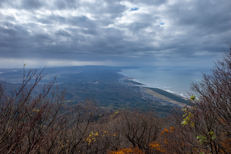 Japan-Niigata-Hiking-Mount Yahiko - Here is the view down the coast. It never rained once all day despite threatening to for most of it.