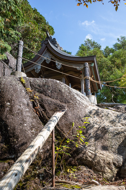 Japan-Tokyo-Hiking-Mount Tsukuba - There are also mini roped off shrines that you cannot really get to and see. Japan loves ropes.