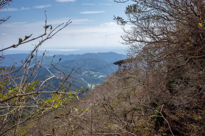 Japan-Tokyo-Hiking-Mount Tsukuba - A glimpse of the cable car that delivered small children onto my path.