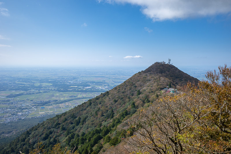 Japan-Tokyo-Hiking-Mount Tsukuba - The path across the ridge, past the other cable car (there are 2 different ones) to the man mountain.