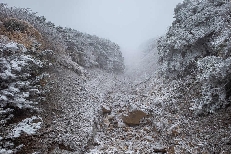 Japan-Yamagata-Hiking-Mount Zao - The path became icy, but like I said earlier, it was never slippery.