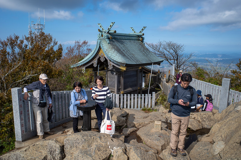 Japan-Tokyo-Hiking-Mount Tsukuba - Here is the mini shrine on the top of the female mountain that is a girls only toilet, make up shop and place to gossip about how your other female wo