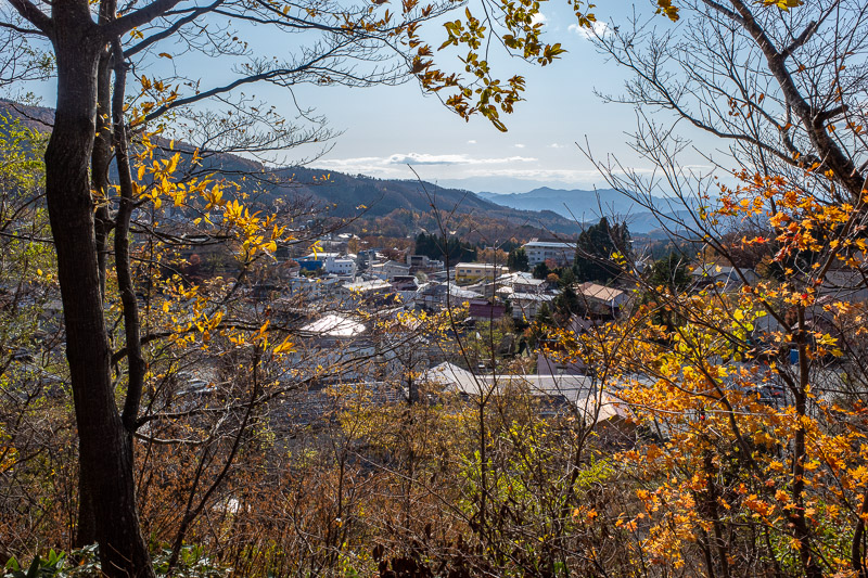 Japan-Yamagata-Hiking-Mount Zao - Here is a view of the Onsen area. Best I could do with limited time.