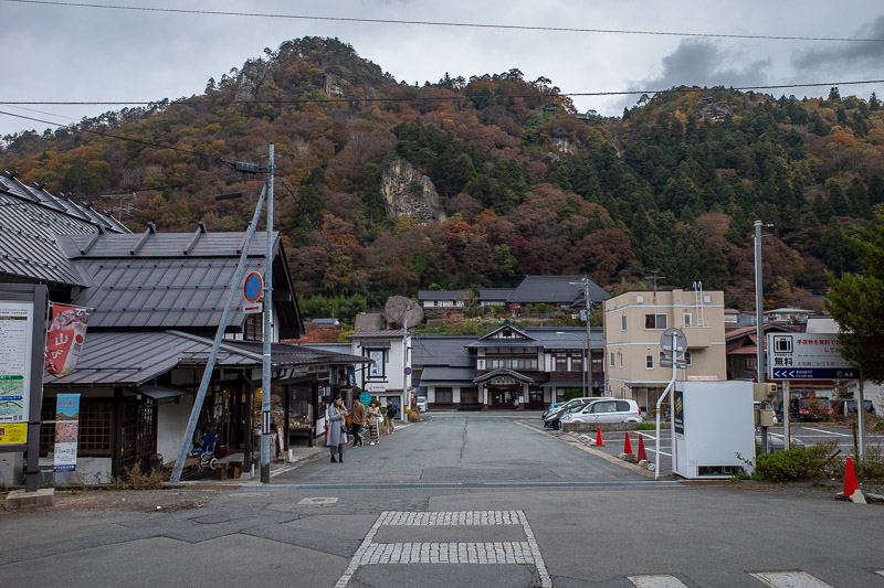 Japan-Hiking-Omoshiroyama-Yamadera - The area around the station is also quite nice.