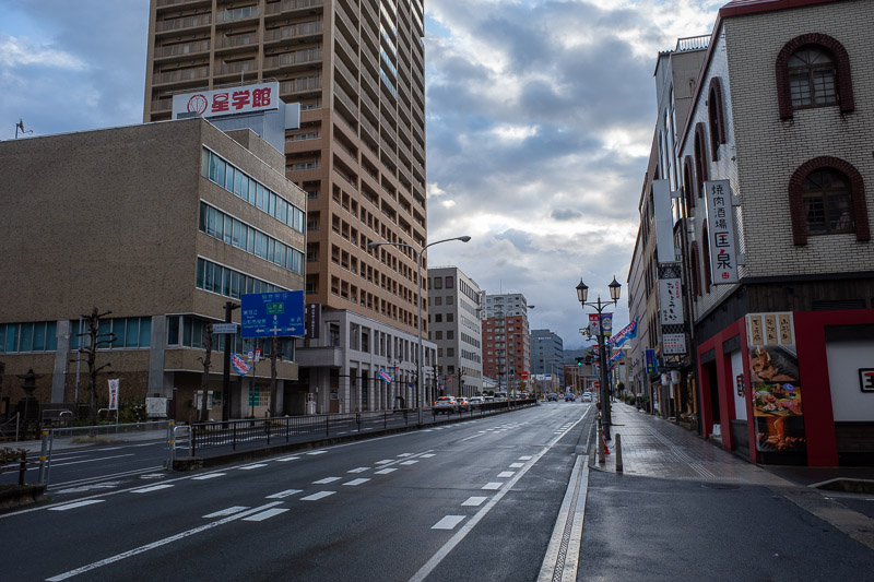 Japan-Yamagata-Koriyama-Shinkansen - Somehow I took a lot of very ordinary photos today. Here is the early morning streets of Yamagata on my way for breakfast.