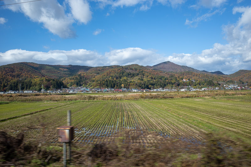 Japan-Yamagata-Koriyama-Shinkansen - Now for some views from a moving train. The weather changed 3 times on my 200km journey.
