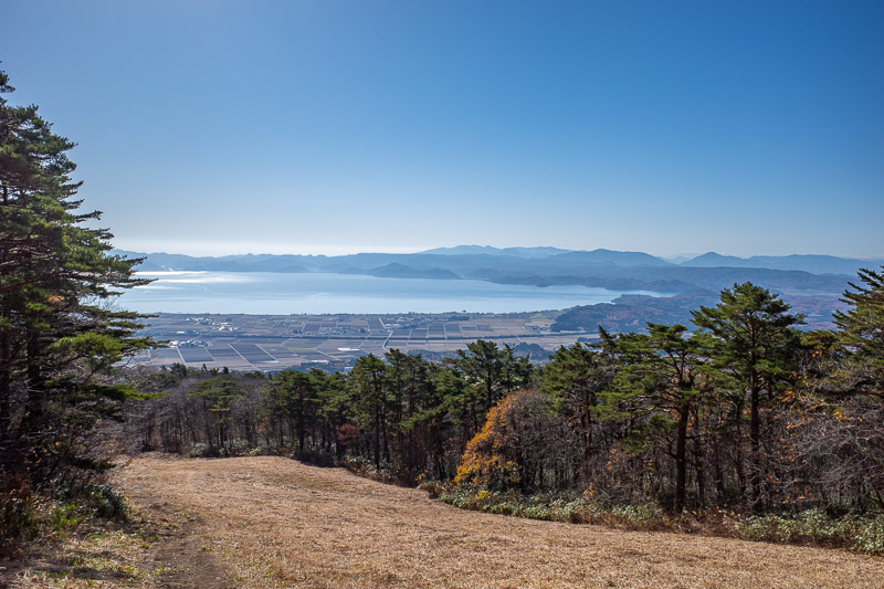 Japan-Hiking-Mount Bandai - You will see a lot of Lake Inawashiro today. It is the fourth largest in Japan.
