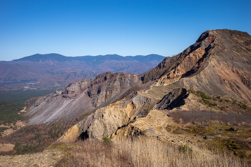 Japan-Hiking-Mount Bandai - Looks like a quarry has destroyed the mountain, I suspect a volcanic eruption did.
