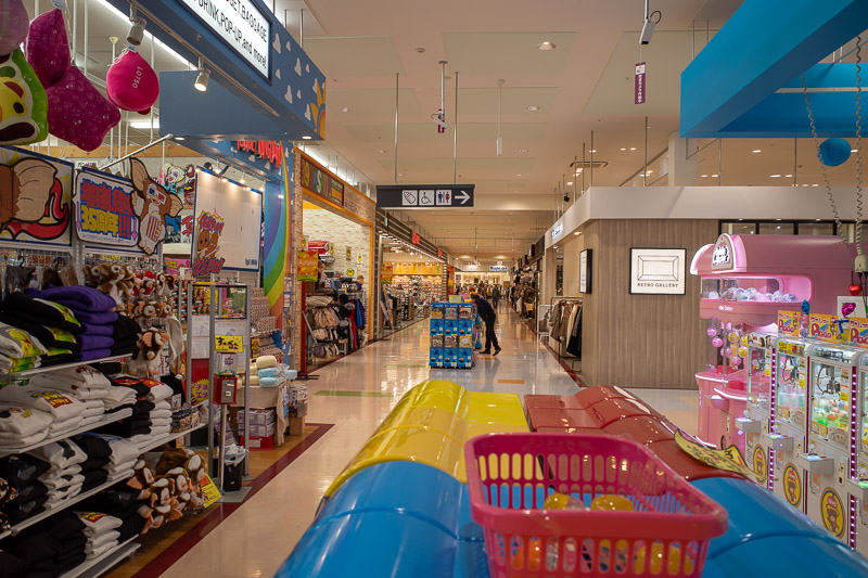 Japan-Koriyama-Food-Shopping - One side of Aeon town had a factory outlet kind of setup. And a nice ice cream shop that let me order a 200 yen kiddie cup. They were very confused th