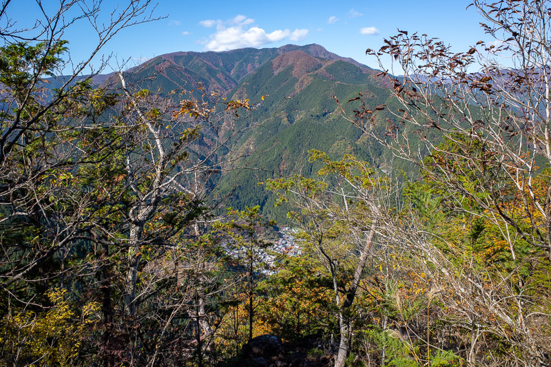 Japan-Hiking-Okutama-Mount Gozenyama - A nice view across the valley. I have climbed that mountain last year! Mount Kawanori I think, that was a great hike.