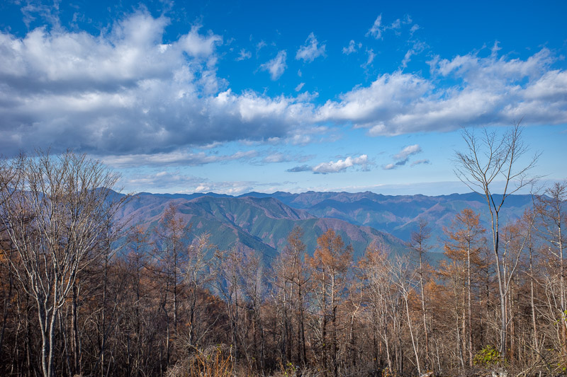 Japan-Hiking-Okutama-Mount Gozenyama - Here is the view. Not a great view, but not bad.