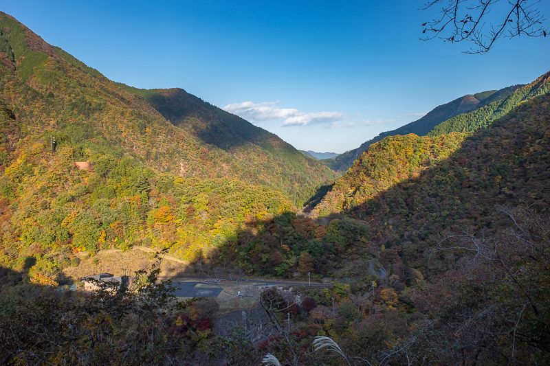 Japan-Hiking-Okutama-Mount Gozenyama - View from the dam back up the valley. Great weather all day today.