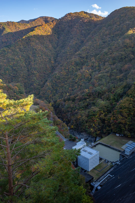 Japan-Hiking-Okutama-Mount Gozenyama - And the far side of the dam. Its a hydroelectric plant, a long way down.