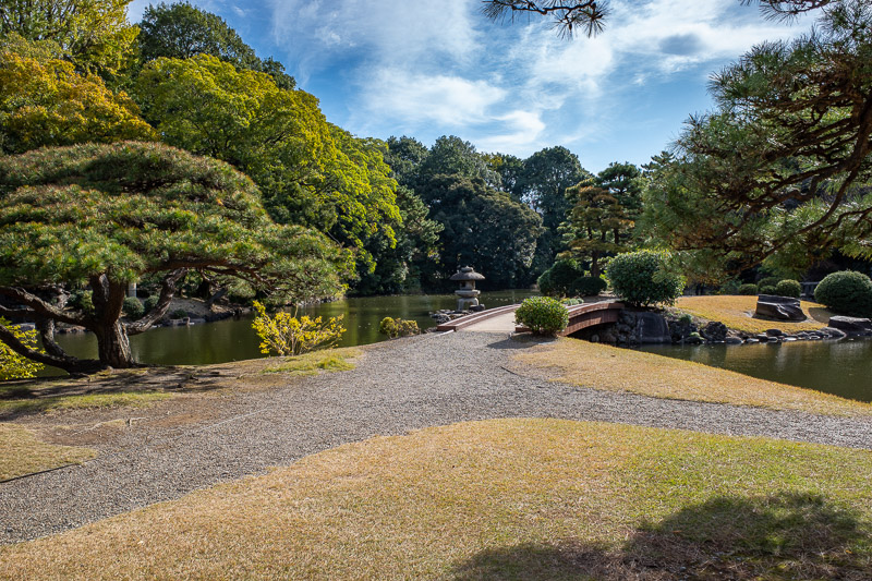 Japan-Tokyo-Shinjuku Gyoen-Garden - I thought I might find some turtles in these ponds. I did not. Also many parts of the garden are still closed due to the recent Typhoon. They are worr