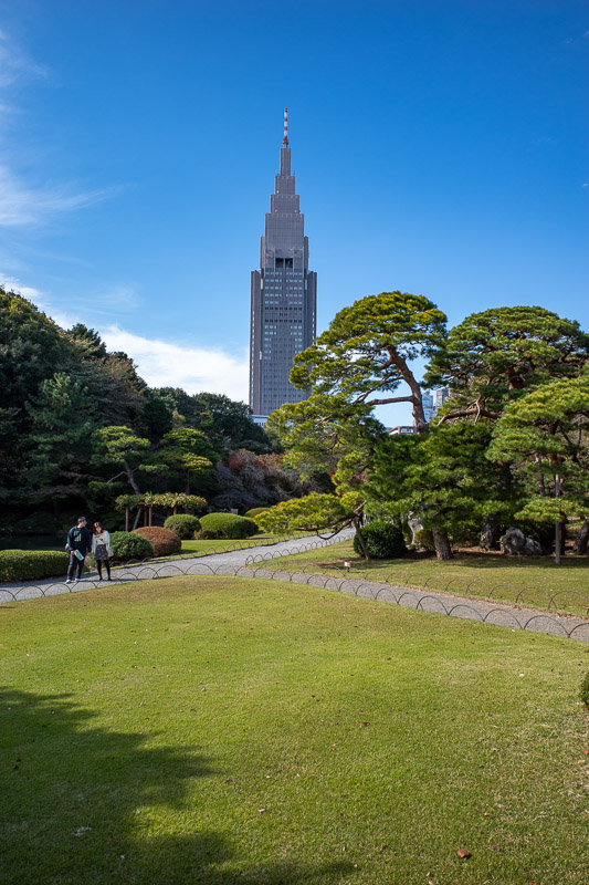 Japan-Tokyo-Shinjuku Gyoen-Garden - Some more of the mobile phone tower.