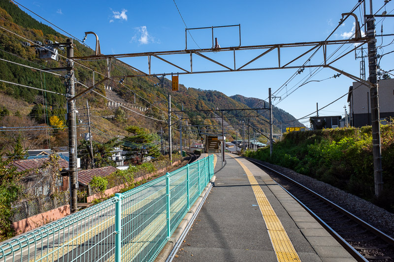 Japan-Tokyo-Hiking-Sasago-Mount Takigoyama - The view from Sasago station. I knew from my previous trip here that there is no convenience store and no vending machine! I bought my supplies the ni
