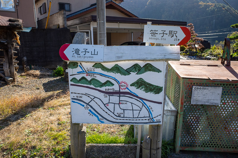 Japan-Tokyo-Hiking-Sasago-Mount Takigoyama - The local government in this area loves signs for mountain climbers. I remembered that from last time also.
