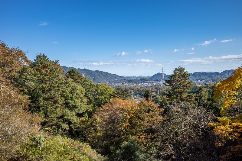 Japan-Hiking-Mount Sekirozan-Lake Sagami - Not a lot of view today, this one is back towards Tokyo.