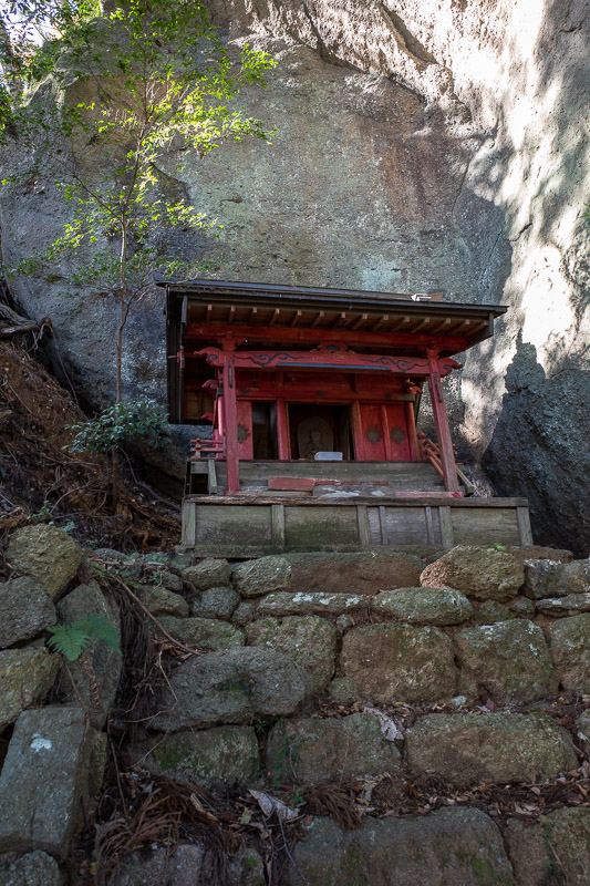 Japan-Hiking-Mount Sekirozan-Lake Sagami - The upper shrine was still in tact.