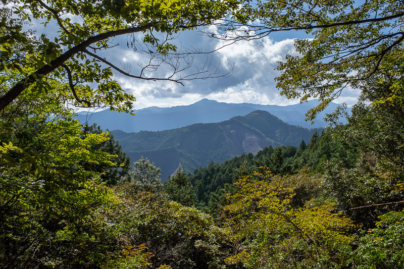 Japan-Tokyo-Hiking-Iwatakeishiyama - I think that peak across the valley is Mount Mitake, which has a shopping street on the summit!