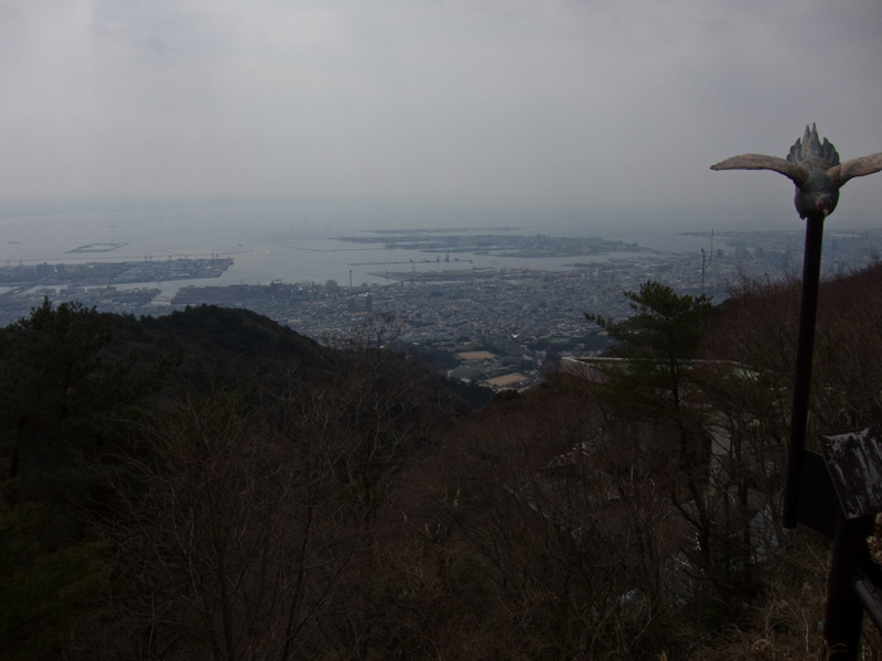 Japan-Hiking-Kobe-Curry-Mount Rokko - Still more view. It was -2 degrees up here and quite windy at times. Still I was excited because I like mountains. Also, picture number 100!