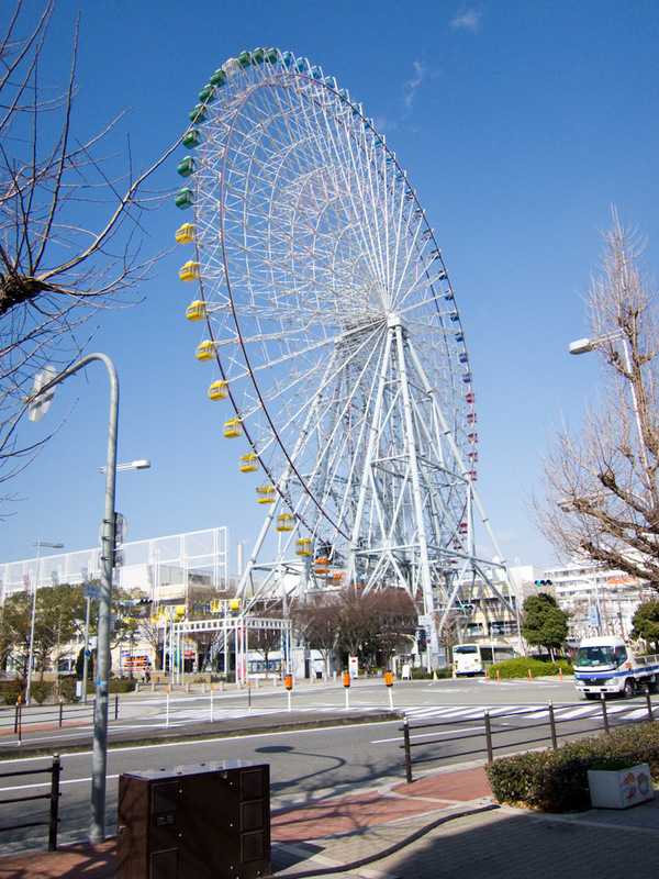 Japan-Osaka-Aquarium - No, you are not glowing red and on top of a building, so I will not go on you inferior ferris wheel.