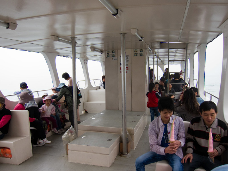 Taiwan-Ferry-Danshui-Tamsui-Bali - I didnt actually know where this ferry was going, but I strongly suspected the other side, through the fog.