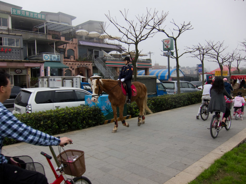 Taiwan-Ferry-Danshui-Tamsui-Bali - Wait, theres also horses.
