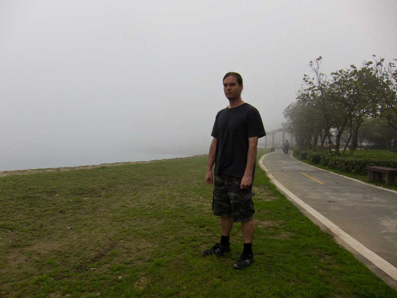 Taiwan-Ferry-Danshui-Tamsui-Bali - Here I am, looking ready to fight off any potential Japanese invasion from the north.