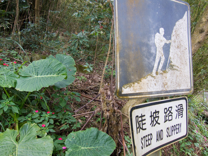 Taiwan-Taipei-Hiking-Yangmingshan - OK, thanks for the warning.