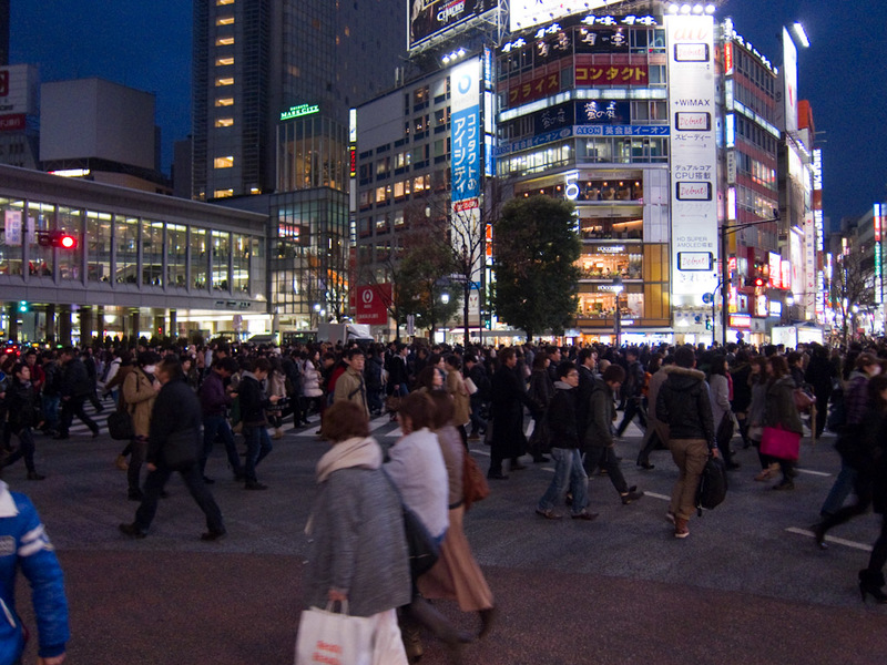 Japan-Tokyo-Shibuya-Harajuku - Apparently this is the busiest pedestrian crossing in the world.