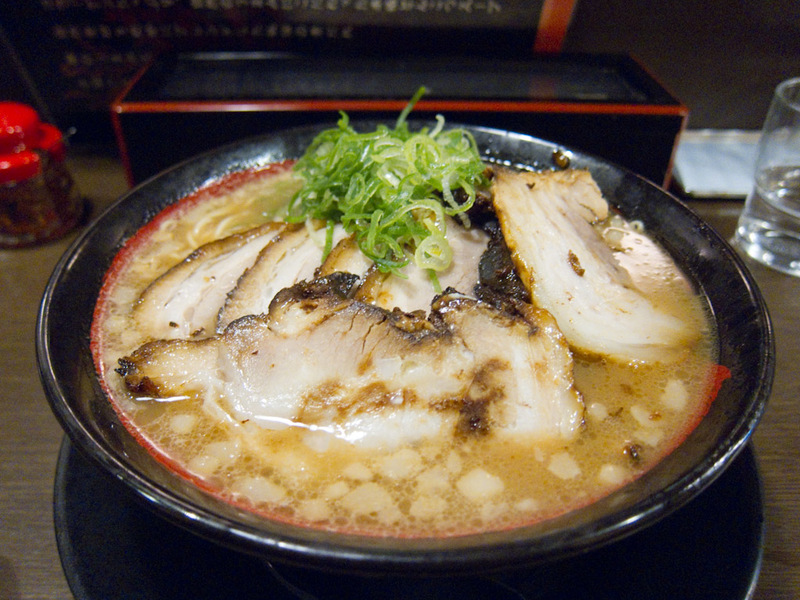Japan-Tokyo-Osaka-Shinkansen-Ramen - I was cold and wet, so ramen seemed like a good idea. Unlike my last 2 bowls, this one had heaps of pork, at least 6 slices, and it had been marinated
