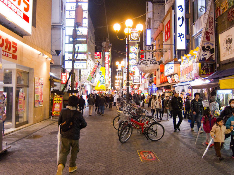 Japan-Osaka-Shinsaibashi-Guitar-Pizza - This is the Dotonbori restaurant street. At least 100 places to eat along here. Too bad I wasnt hungry yet.