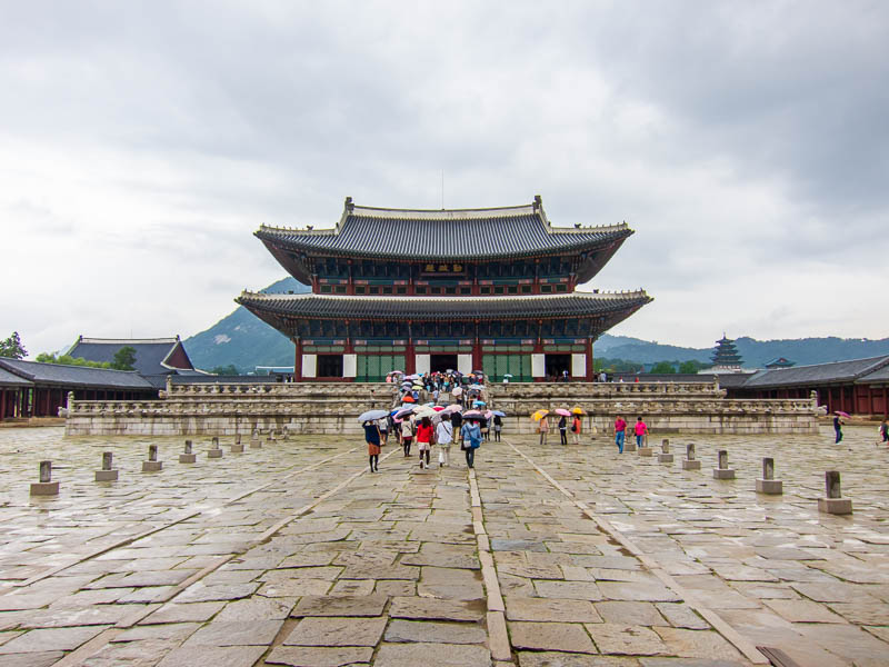 Korea-Seoul-Gyeonbok-Palace-Pho - More Palace, no individual building seems more impressive than the others, theres a lot of very similar structures.