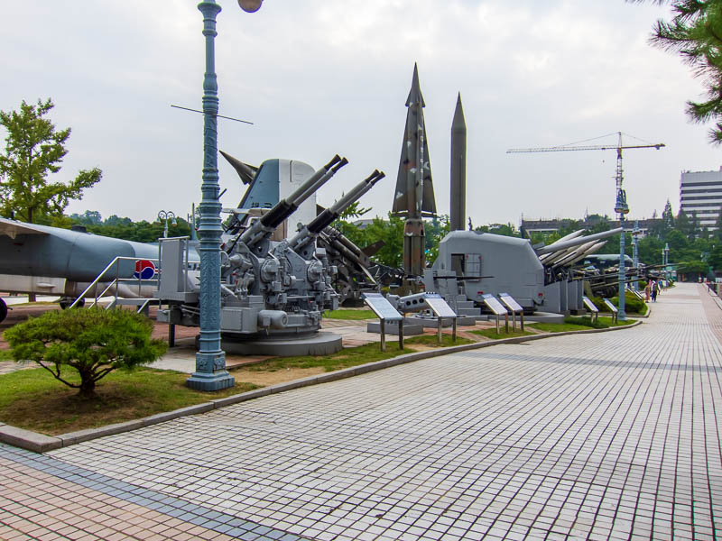 Korea-Seoul-Military-Musuem-Memorial - The outdoor weapons play area, rockets, planes, tanks, helicopters etc. Lots more pics to come.