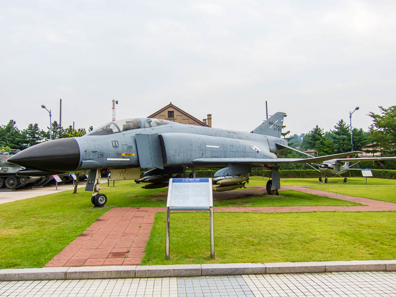 Korea-Seoul-Military-Musuem-Memorial - An F4 Phantom, these are huge, the photo doesnt really do it justice, easily twice as big as a Sabre.